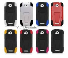 for HTC One VX Hybrid Cell Phone Case With Y Kick Stand Soft Hard Combo Cover