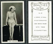 Phillips - Beauties Of Today 1939 #1 to #54 UK Film/Movie Star Cigarette Cards