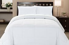 Microfiber Goose Down Double Fill Alternative Comforter - White