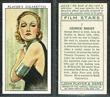 Players - Film Stars 1st Series 1934 #1 to #50 UK Movie Cigarette Cards
