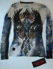 NWT Remetee Graphic Tee by Affliction Clothing Long Sleeve Thermal T-Shirt  Sz M