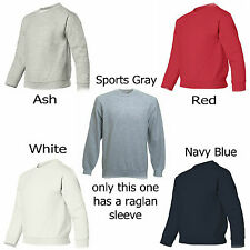 Hanes Fruit of the Loom Youth Crewneck Sweatshirts Navy Red White New Wholesale