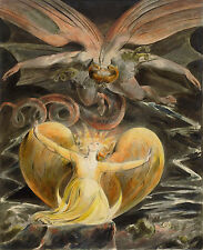 WILLIAM BLAKE THE GREAT RED DRAGON,ROMANTICISM  GICLEE PRINT FINE ART  CANVAS