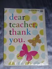 THANK YOU TEACHER CARD 2 DESIGNS TRADITIONAL LEAVING SCHOOL THANKS ASSISTANT