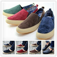 Britsh Men's Casual Breathe Freely Canvas Sneakers Slip On Loafer Shoes New