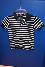 NWT Polo White Navy Light Blue Green Striped Collared Baby Boys Shirt All Sizes