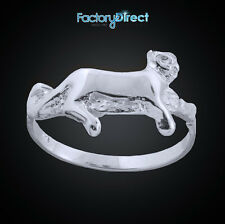Sterling Silver Lioness Ring Lunar Animal Sekhmet Royalty Courage Authority Powe
