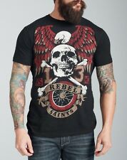 Rebel Saints by Affliction Eagle Ride Graphic Tee T-Shirt SOLD OUT! 2XL L Black