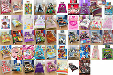 Childrens / Kids single duvet cover quilt cover bedding sets with pillowcases