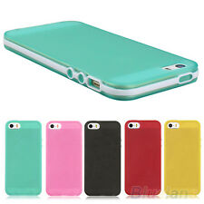 Snap On Rubber Matte TPU Gel Silicone Cover Case Skin For Apple iPhone 4 4S 5 5S