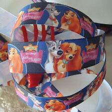 """7/8"""" Printed Grosgrain Ribbon For The Lady and the Tramp DIY Craft 779 E#"""