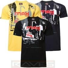 Mens T-shirt Tee Max Edition Printed Graphic Crew Neck 100% Cotton Urbantraffic
