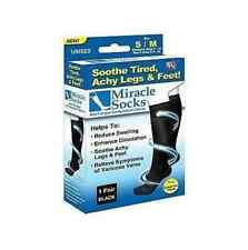 Hot MIRACLE SOCKS UNISEX ANTI-FATIGUE COMPRESSION SOCKS AS SEEN ON TV e