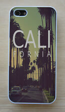 """California """"Cali"""" City Street Glossy White Fitted Case For iPhone"""