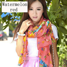16Colors New Women's Long Georgette Chiffon Scarf Wraps Shawl Stole Soft Scarves