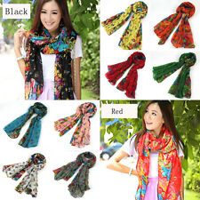 16Colors Women's Long Georgette Polyester Scarf Wraps Shawl Stole Soft Scarves