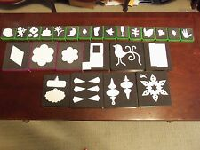 EUC SIZZIX Assorted GREEN, PURPLE, & BLACK Dies~ Many Rare or RETIRED~NO CASE~
