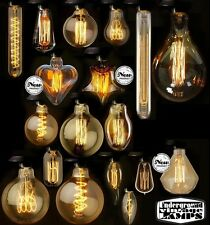 CARBONE VINTAGE LAMPADINA DECORATIVA FILAMENTO LAMP FILAMENT BULB CARBON LIGHT