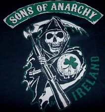 Sons of Anarchy Reaper Crew LOGO IRELAND 2-Sided Graphic T-Shirt Licensed SOA