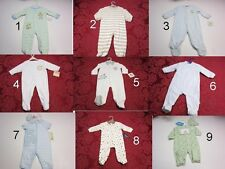 Coverall Jumpsuit Infant Baby bOY Footer Sz;0-3,3,3-6,6-9,9