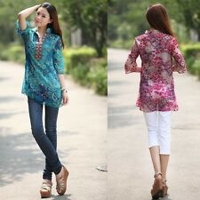 2014 Spring And Summer Women Chiffon Embroidery Print Casual Dress Plus Size