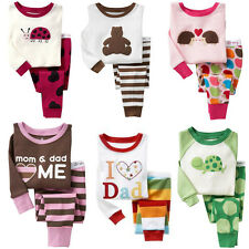 Baby Toddler Kid's Boys Girls Long Sleeve Animal Sleepwear Pajama Size 2T-7T