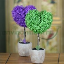 Hearts Loves Artificial Fake Plants Plastic Trunk Trees Home Garden Table Decor