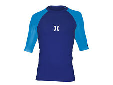 Hurley Men's One & Only Rashguard Shirt Cyan/Navy