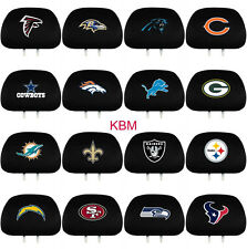 *NFL* HEADREST COVERS Auto Car/Truck SET of TWO- Licensed NEW Choose your Team