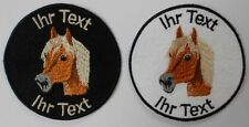 horse haflinger patch with your text 8cm embroidered logo (25-1)