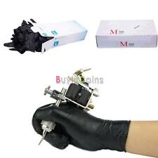 100 pcs Disposable Latex Exam Tattoo Medical Gloves Small Medium Large Size BIUS