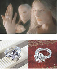 Lord Of The Rings NENYA Galadriel Ring Of Water Hobbit Jewelry Size 6-10 bg296