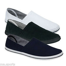 NEW DEK MENS PLIMSOLES SLIP ON PUMPS TRAINERS PLIMSOLES ESPADRILLES SHOES CANVAS