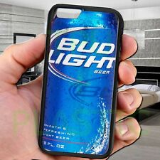 cool Bud light beer can ice drink black iphone 4 4s 5 5s 5c 6 6+ case cover