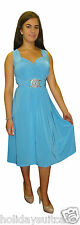 LADIES WOMANS HOLIDAY SUMMER PARTY WEDDING EVENING TURQUOISE DRESS SIZE 12-26