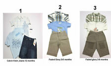 NEW 3 Pc SHIRTS PANTS T-SHIRT Outfit set Denim  sz: 3-6,12 Months