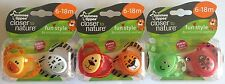 Tommee Tippee Closer To Nature Fun Animal Style Orthodontic Soothers 6-18m