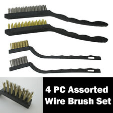 MINI WIRE BRUSH SET- Rust Remover Cleaning Travel Holiday Steel Brass Handy Kit