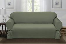 SAGE GREEN LODEN LUCERNE SOFA SLIPCOVER, COUCH COVER, SOFA, CHAIR, 4 COLORS