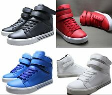 Men Korean Style Casual Shoes The High-top Magic Buckle Walking Sneakers