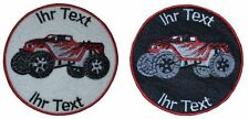 rc monster cars patch with your text 10cm embroidered logo (515)