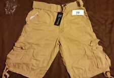 NEW EVOLUTION CARGO BELT SHORTS WHEAT MENS SIZE Baby Canvas PREMIUM TWILL