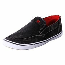 Genuine Airwalk Men's Comfort Canvas Slip On Casual Shoes Sneaker Malibu Black