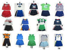 NEW Infant Baby Toddler Boys Girls 2 pc sports T-Shirt  Top Shorts Outfit set