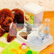Container Hold 1.5kg Pets Dogs Food Automatic Eat Water Feeder Dispenser CWWSQd1