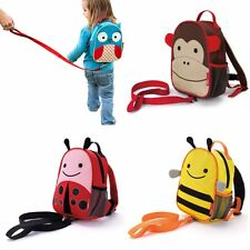 BABY TODDLERS CHILDRENS BACKPACK RUCKSACK BAG with WALKING SAFETY REINS HARNESS