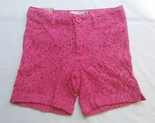 New Route 66 Girls Pink Lace Shorts With Adjustable Waist Choose Size