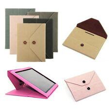 Envelope Briefcase Folio Kickstand Denim Skin Case Cover For Apple iPad 2 3 4 4G