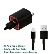 NEW 2.1amp Lightning Home Wall AC Travel Rapid Charger for Apple iPhone 5 5C 5S