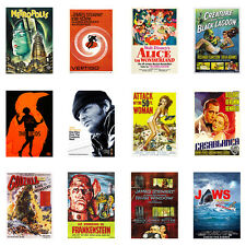 Choice of Classic,Vintage Best Old MOVIES Repro A3 or A4 Print Poster Wall decor